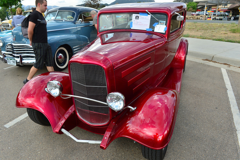 "Better than new, a 1932 Ford ""Tudor"" chopped-top earns some stares. While not a classic car of the 50s or 60s, the styling of the chopped-top is all classic."