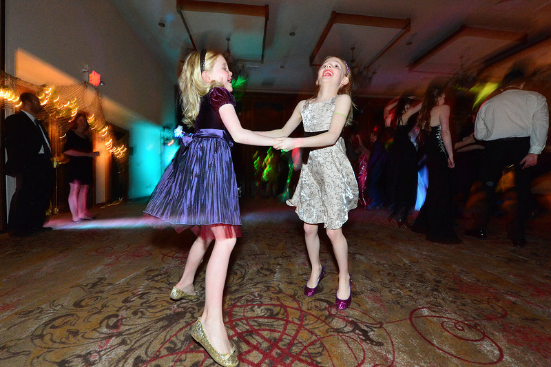 Younger dancers join the big kids at the Estes Park High School's Prom on Saturday. The younger children often help in the crowning of the royalty at the event.