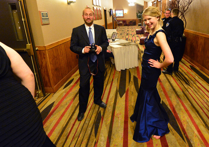 Lexy Life arrives in her full-length dress for the 2013 Fishing in the Dark Prom on Saturday night. The spring event is traditionally thrown by the junior class for the seniors.
