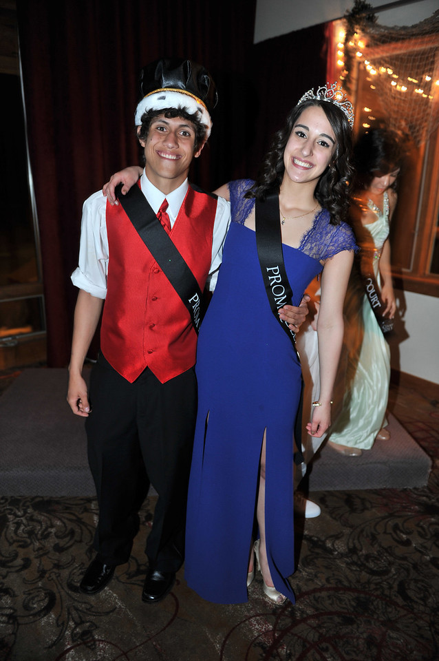 Sean McAlpin and Annette Cinac enjoy the start of their reign as 2013 Prom king and queen on Saturday night.