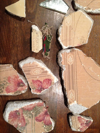 Pieces of carpet and papered drywall were discovered Feb. 24.