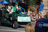 The leprechaun scoots down Elkhorn Avenue Saturday morning during the 2013 Longs Peak Scottish/Irish Highland Festival Parade.