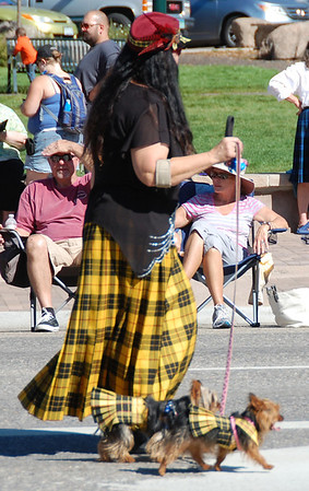Not just people wore clan tartans during the 2013 Scotsfest parde in Estes Park.