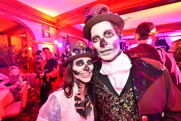 29EPLPht Dead Punks.jpg A living-dead steampunk couple might have been the most original of the many costumes on display at the Stanley Hotel's Shining Ball on Saturday. Visitors from far afield, as well as some locals, descended on the famouse hotel's celebration of the season.