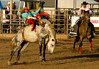 Bareback bronc riding is one of the events at the Rooftop Rodeo.