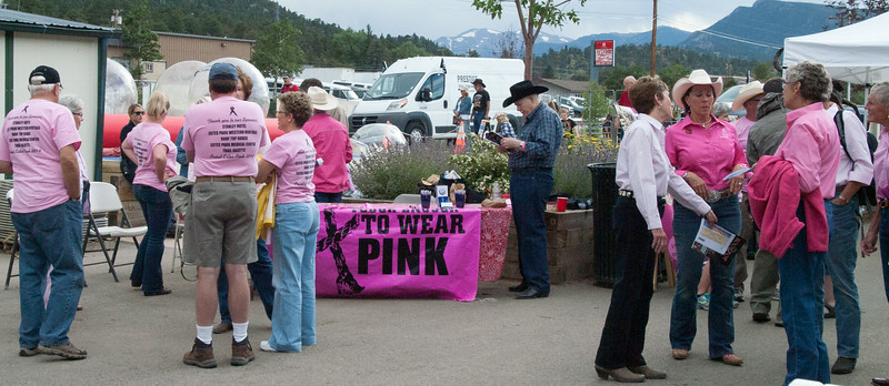 Wednesday's theme at the Rooftop Rodeo was Tough Enough to Wear Pink.