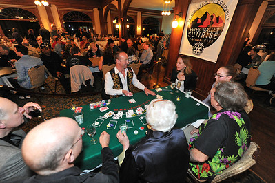 Sunrise Rotary members manned the tables, poker included, at their annual Casino Night fund raiser. Sunrise Rotarian Mark Holdt eventually won the Texas Hold'em tournament during the event.