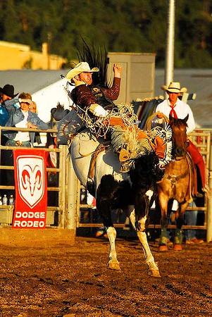 Micky Downare of Hartsel Colo., rides to the best score of the week, 81, on Sunday. Photo by Walt Hester