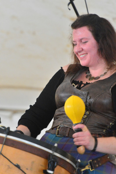 Albannach's Jacquie Holland enjoys performing during the opeing day of the 37th annual Longs Peak Scottish-Irish Festival on Friday. The band has become a regular attraction at the festival's rock tent.
