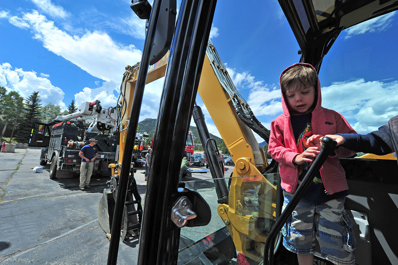 Back hoes, firetrucks, cherry pickers, the list of giant toys goes on at the Back to School Bash on Saturday.