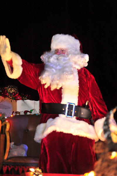 Call him Father Christmas, St. Nick or Santa, the jolly old elf was happy to cruise along Elkhorn Avenue to officially kick off the Christmas season. Santa was looking a bit thin from all his hard work and travel.