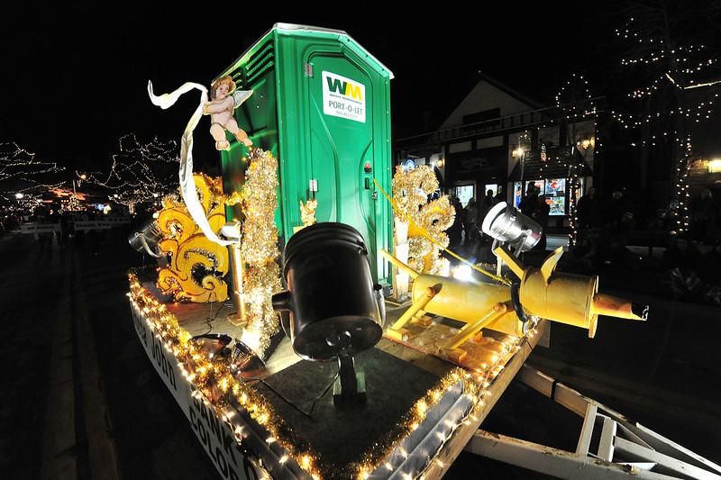 The most and least popular plastic structure in Estes Park wheels down Elkhorn Avenue during the Catch the Glow Parade. A few floats from this year's parade were entertaining and specific to this year.