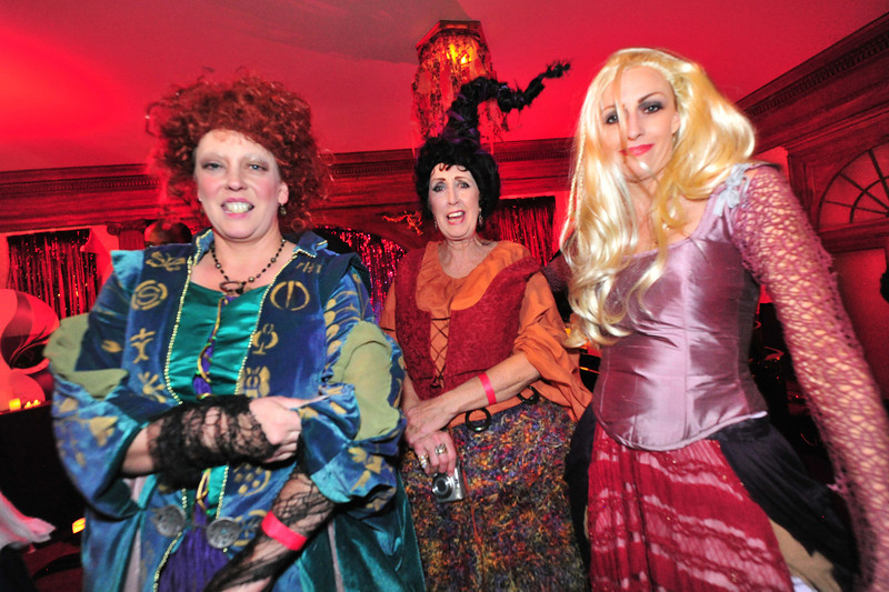 A trio dresses as the witchy sisters from the Disney movie Hocus Pocus. Costumes ranged widely from movie and comic book heroes to fairies, steampunk charecters and fantasies of all varieties.