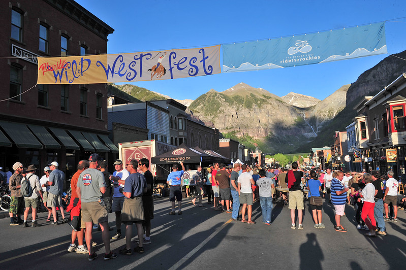 The town of Telluride hosted the start of the 2013 Ride the Rockies, while at the same time celebrating the town's Wild West Fest, an event that exposes underserved Native American and inner city youth to the arts, cusotms and culture of the West. Ride the Rockies often plans on such events when drwing up the routes to expose riders to the unique people and places of Colorado's communities.