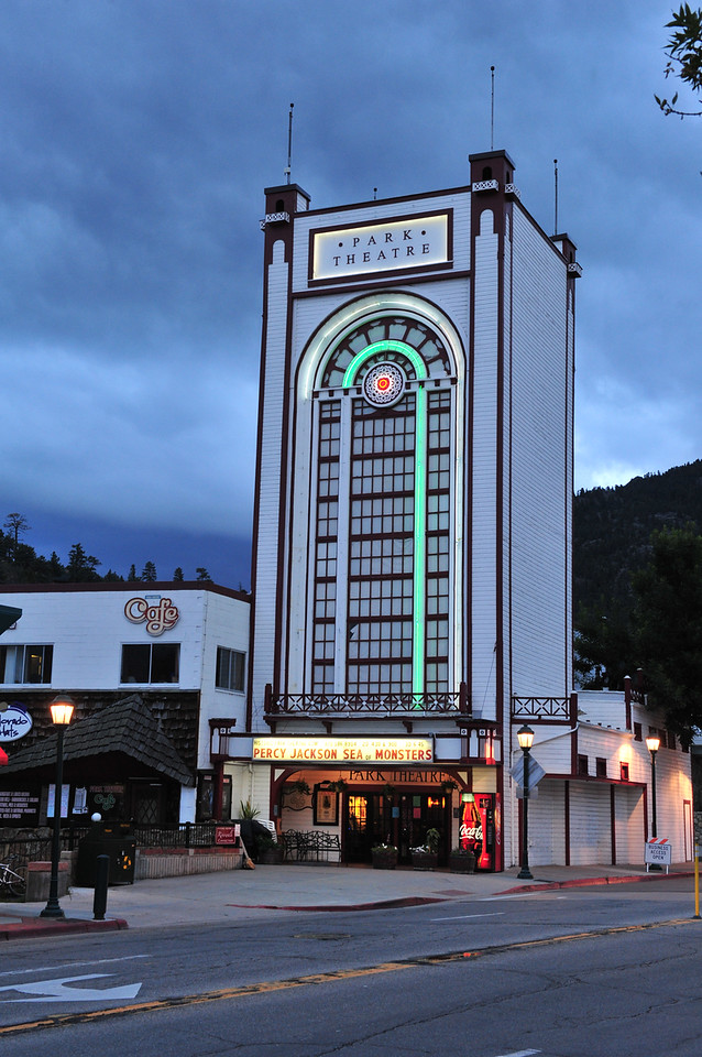 The neon lights of the Park Theater glow in the coming night on Monday. The 100-year-old theater hosts a Silent Comedy Film Festival on Saturday, August 17, beginning at 2:15 p.m.