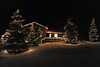 26EPLPht Classic look.jpg Trees and icicle lights, along with the classic colored bulbs, decorate a house on Lake Shore Drive on Thursday.