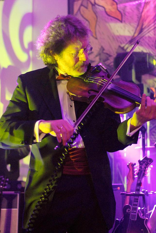 Bluegrass ledgen Sam Bush joined Leftover Salmon at the Stanley Hotel concert series, March 13 -15th.