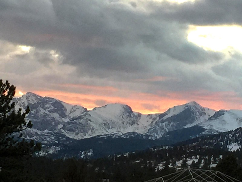 Friday evening sunset from the concert hall for the opening night of the Leftover Salmon Stanley Hotel Concert Series March 13.