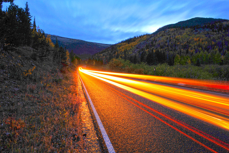 Walt Hester | Trail Gazette<br /> Cars streak up and down Trail Ridge Road on Tuesday.