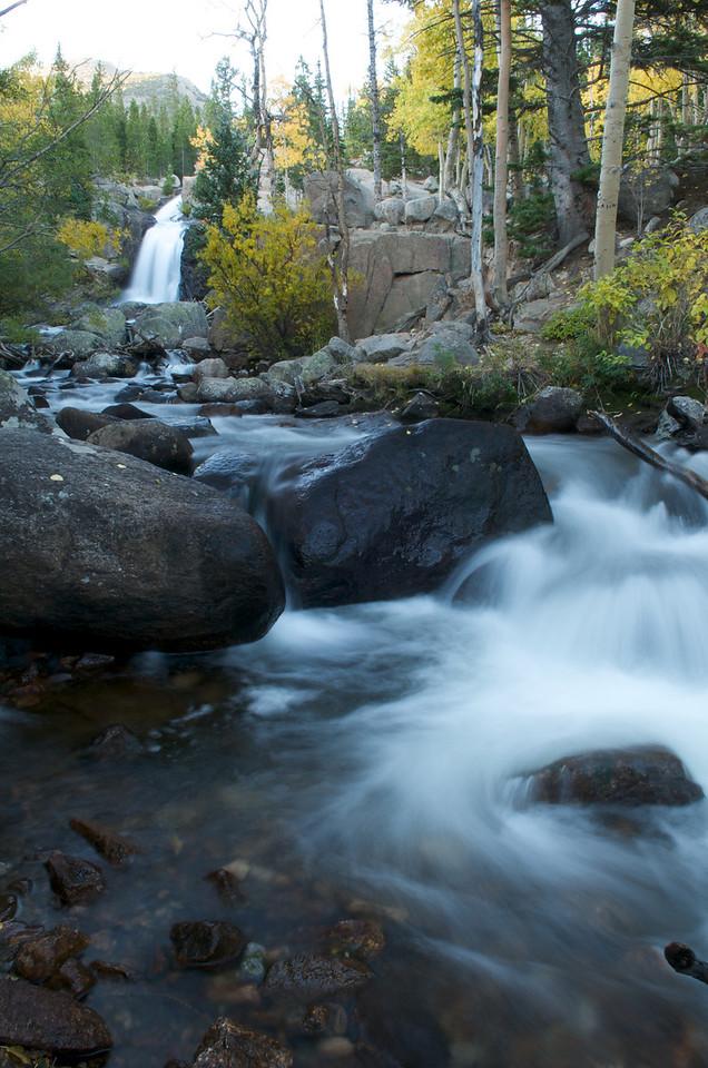 Glacier Creek rushes down from Alberta Falls.