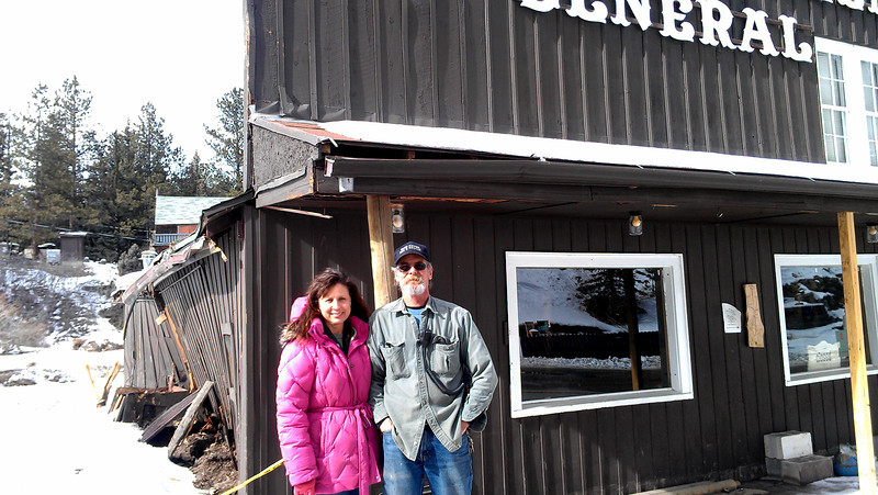 Becky and Steve Childs met after Becky's parents purchased the store just after the 1976 flood and Steve helped to rebuild it.  Steve and Becky will now rebuild the store again after the 2013 flood which Steve describes as four times worse than the '76 flood.