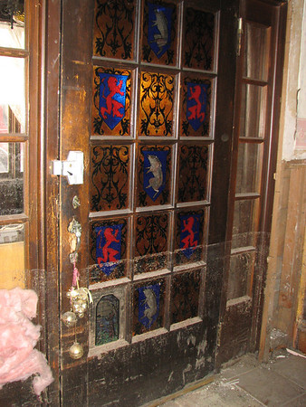 The water in Glen Haven's business corridor rose over four feet; the stain glass window in the door of the Inn of Glen Haven still bears the high water mark.