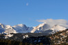 25EP StndAln Moon and Sky.jpg Walt Hester | Trail Gazette<br /> The moon slowly drifts across a mostly tranquil sky toward the Continental Divide on Tuesday. Skies are expected to change as the weekend approaches, with th posibility of snow in the forecast.
