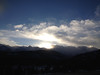 Silver linings.JPG Clouds glow with the evening sun over the Continental Divide west of Estes Park.
