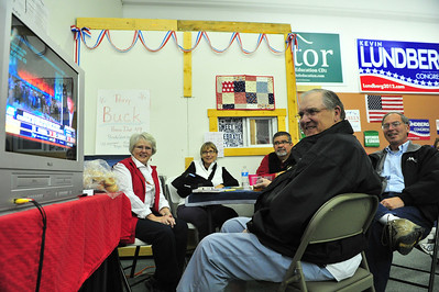 Estes Park's GOP faithful stay up-beat at local party headquarters as early returns roll in on Election Night. After billions of dollars and hours of negetive ads, today's federal government looks about the same as it did Tuesday morning.
