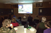 All eyes were on the big screen Tuesday night at the Estes Valley Library during the showing of the election returns.