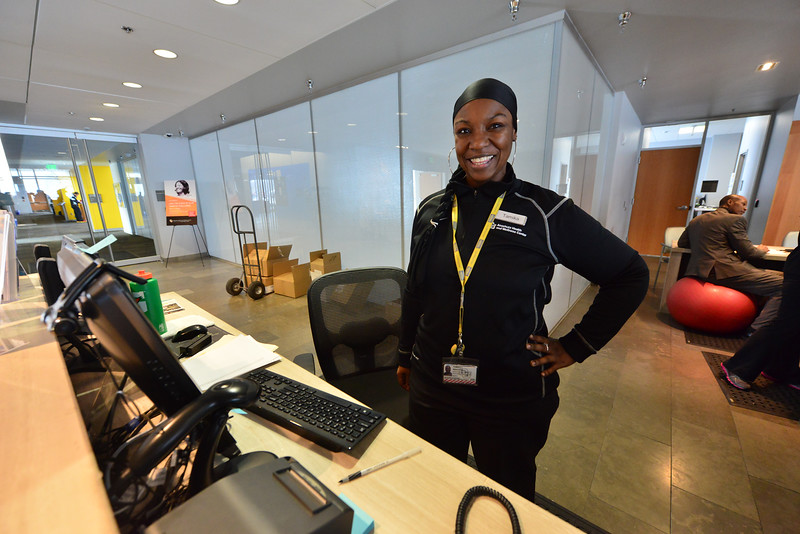 Wellness center employee Tamika Braxton lost 84 pounds in a year after joining the staff. The many employees of the center are encouraged to take advantage of the facilities to make a healthier, happier life.