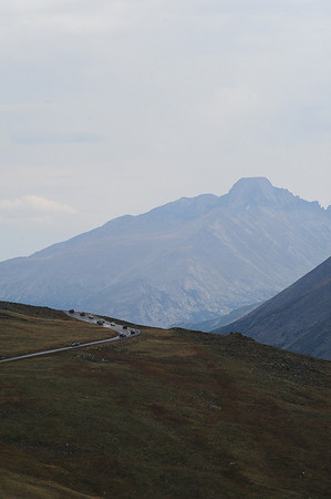 Walt Hester | Trail-Gazette<br /> Cars crowd Trail Ridge Road on Wednesday. The highest continuous road in the US is a very busy road, as well, allowing visitors easy access to the alpine tundra.