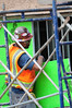 Walt Hester | Trail-Gazette<br /> A construction worker moves insulation in place on Thursday over a window that will soon be covered. The new construction will creat new windows, as well as new space at the Estes Park Medical Center.