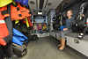Children sit in the dive rescue truck at the open house. The fire district is also responsible for the dive rescue team in the area.