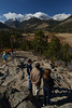 Visitors enjoy the view of Horseshoe Park and the Mummy Range on Sunday. Visitors have found pleanty of scenic spots in the national park in spite of road and trail closures.