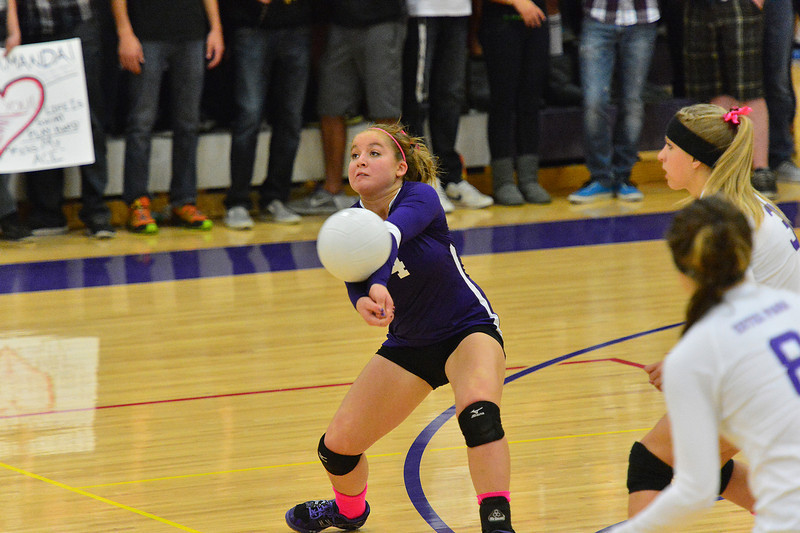Madison Clyne receives a serve last week. Clyne hopes to help the Ladycats turn their fortunes around as they face Strasburg on Tuesday and University on Thursday.