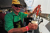 Walt Hester | Trail-Gazette<br /> Carroll Mock pours beer at Autumn Gold on Saturday. The festival is Estes Park's approximation of Oktoberfest.