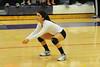 Miranda Ruiz awaits the serve against University last week. Ruiz was a sparkplug, exciting and motivating her team this season.