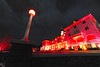 The Stanley Hotel is illuminated for the Shining Ball on Saturday. The hotel celebrates its status as a haunted destination, and the inspiration for Stephen King's famous book.