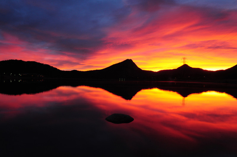 Sunrise brings a kaleidoscope to the sky above Estes Park on Thursday. Expect partly cloudy skies in th morning with increasing clouds throughout the day and a high in the mid to upper 60s.