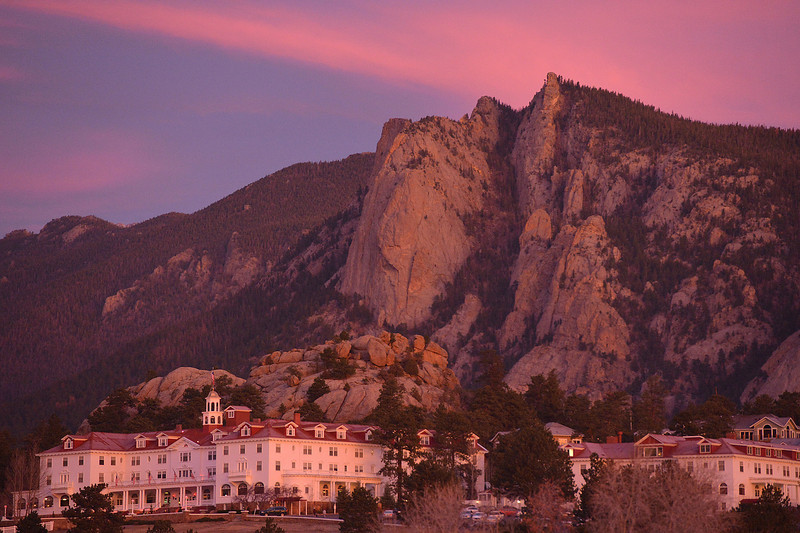 Thursday's sunrise splashes unusual color on the Stanley Hotel and Lumpy Ridge. November began unusually warm with daytime highs in the upper 50s and 60s.