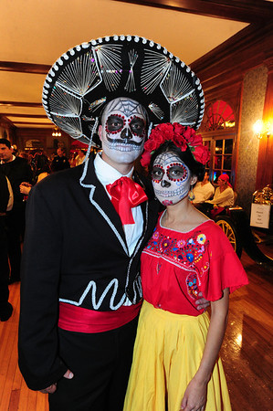 Though a few days early, Kyle and Dalianna of Boulder are Dia de los Muertos couple at the Stanley. As amazing and elaborate as these costumes were, they were just one of two couples in the festive cultural dress.