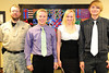 Walt Hester | Trail Gazette<br /> Jonathan Pass, Tasha Hess and Joshua Hess received the Ace Hardware Scholarship.