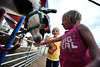 Walt Hester   Trail Gazette<br /> Neve Cooper, 6, right, and Lily Finch, 4, feed the llamas of the petting zoo at the circus. The side show included plenty of animals even Estes Park children don't see everyday.