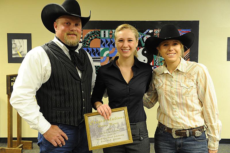 Walt Hester | Trail Gazette<br /> Morgan Morris received the Muriel MacGregor Charitable Trust Scholarship.