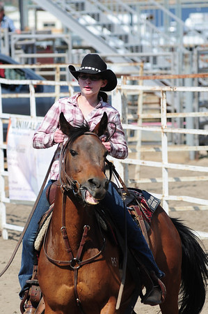 Walt Hester | Trail Gazette<br /> Tessa Shifty rides in the Team Penning event at the Stanley Fairgrounds arena on Saturday. The event kicked off a busy summer for the arena which will host horse shows, barrel races and, of course, the Rooftop Rodeo.