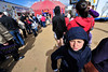 Walt Hester | Trail Gazette<br /> A looks unhappy about the cold wind blowing through the Stanley Park fairgrounds on Sunday. While sunny, the wind brought a chill over Estes Park throughout the weekend.