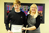 Walt Hester | Trail Gazette<br /> Cole Woodard received the Fine Arts Guild Scholarship.