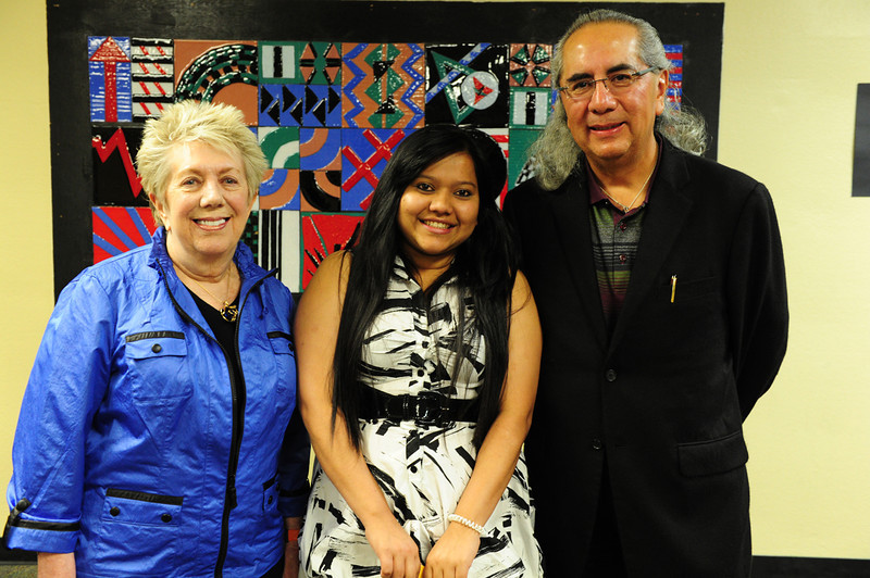 Walt Hester | Trail Gazette<br /> Deepa Lamichhane received the Stevens/McCartney Multi-Cultural Scholarship. Also receiving the scholarship was Luis Ayala.