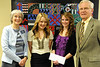 Walt Hester | Trail Gazette<br /> Iliana Normali and Katharine Claypool receive the Kiwanis Club of Estes Park Scholarship.